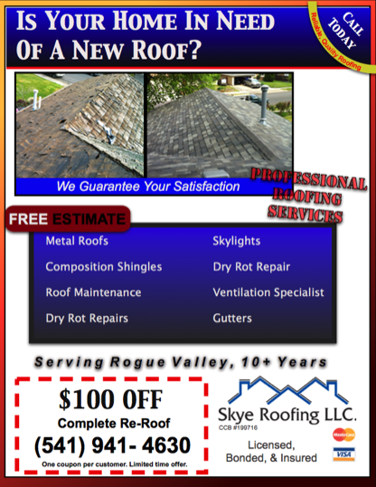 medford roofing services in rogue valley oregon